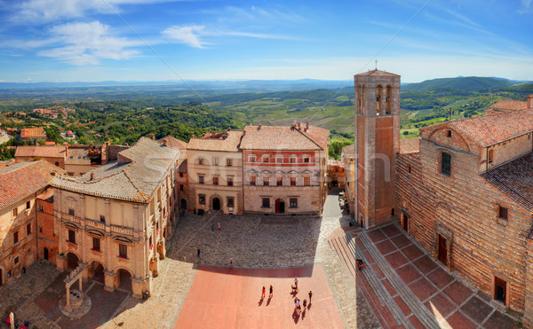 Montepulciano town panorama in Tuscany, Italy Stock photo © photocreo