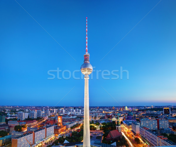 Tv tower or Fersehturm in Berlin, Germany Stock photo © photocreo