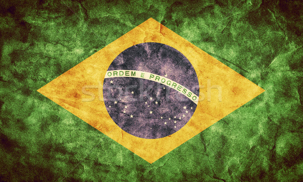 Brazil grunge flag. Item from my vintage, retro flags collection Stock photo © photocreo