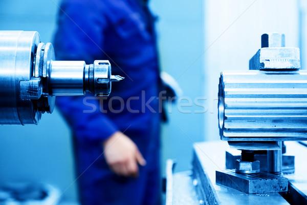 Perfuração chato máquina trabalhar indústria industrial Foto stock © photocreo
