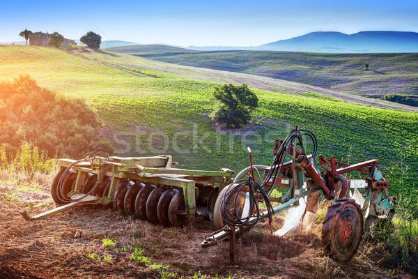 トスカーナ 風景 日の出 レトロな 農業 ストックフォト © photocreo