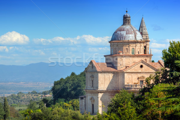 The Sanctuary of San Biagio in Montepulciano, Tuscany, Italy.  Stock photo © photocreo