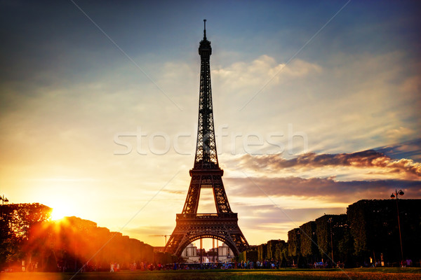 Eiffel Tower at sunset, Paris, France Stock photo © photocreo
