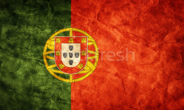 Portugal grunge vlag item mijn vintage Stockfoto © photocreo