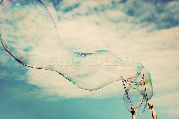 Grand bulles de savon air vintage liberté Photo stock © photocreo