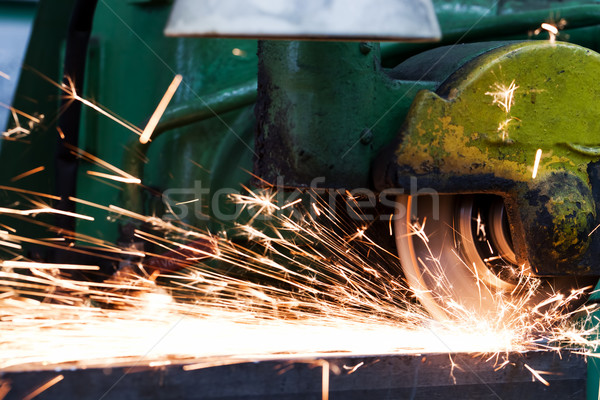 Sparks from grinding machine. Industrial, industry Stock photo © photocreo