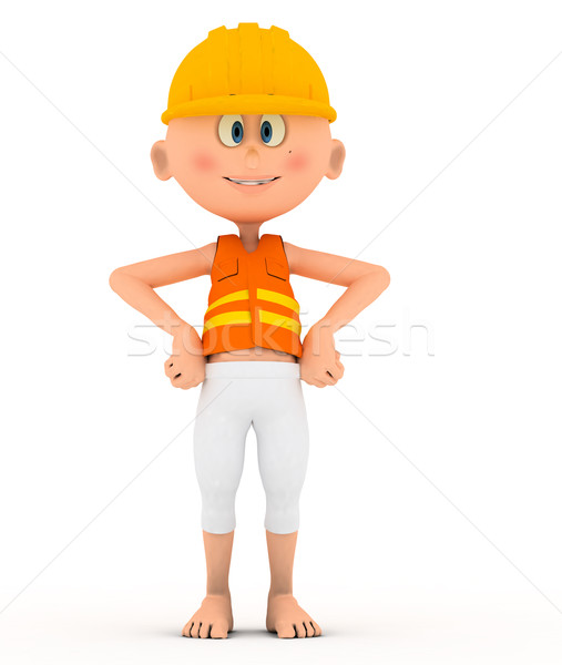 Toon builder, worker standing pose. Stock photo © photocreo