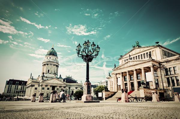 Berlijn Duitsland kathedraal retro vintage Stockfoto © photocreo
