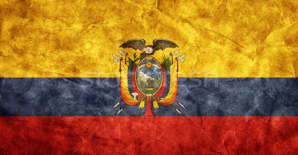 Ecuador grunge flag. Item from my vintage, retro flags collection Stock photo © photocreo