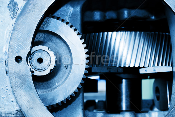 Gear machine industrial elements close-up. Industry Stock photo © photocreo