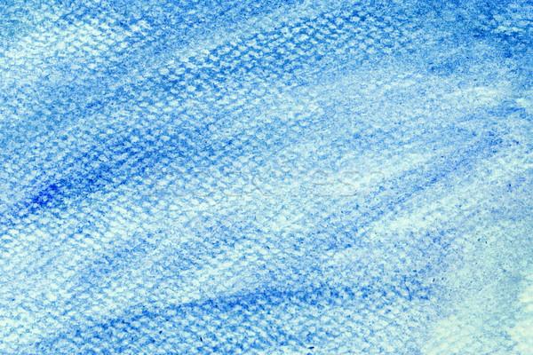 Foto stock: Azul · acuarela · pintura · lienzo · resumen · arte