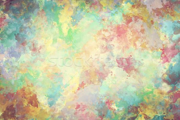 Coloré couleur pour aquarelle peinture toile super élevé Photo stock © photocreo