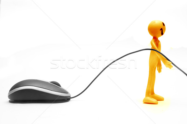 Uśmiechnięta twarz mysz komputerowa twarz szczęśliwy tle Zdjęcia stock © photocreo