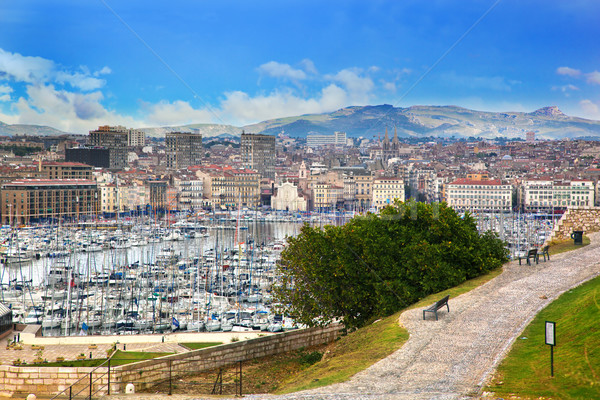 Marseille, France panorama, famous harbour. Stock photo © photocreo