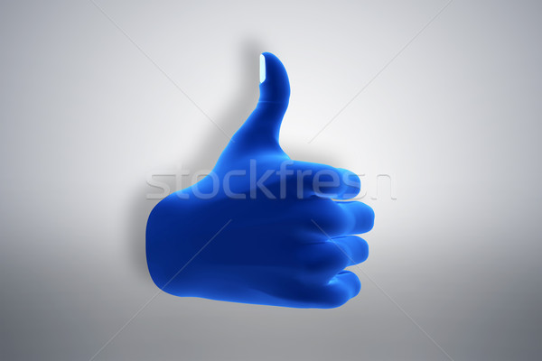 Blue hand gesture showing OK, like, agree. Social media Stock photo © photocreo