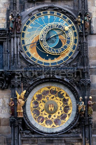 Prague. The Astronomical Clock Stock photo © photocreo