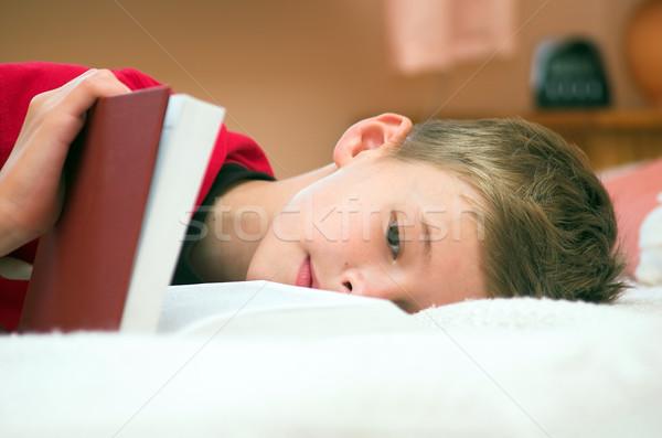 Stock foto: Müde · schläfrig · Studium · Papier · Gesicht