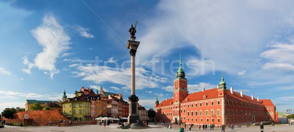 パノラマ 旧市街 ワルシャワ ポーランド ロイヤル 城 ストックフォト © photocreo