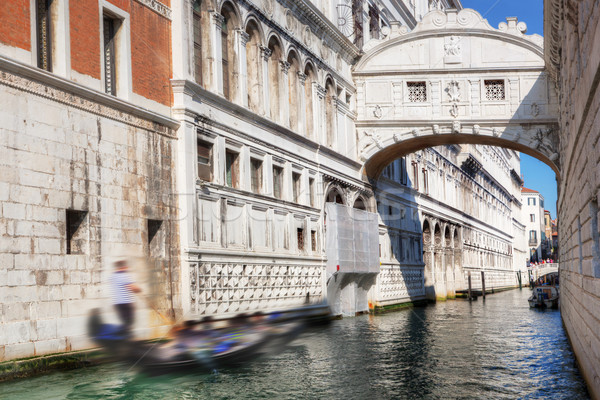 Venice, Italy. The Bridge of Sighs and gondola Stock photo © photocreo