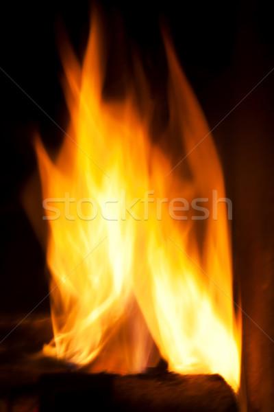 Fuoco fiamme nero fotografia design arte Foto d'archivio © photocreo