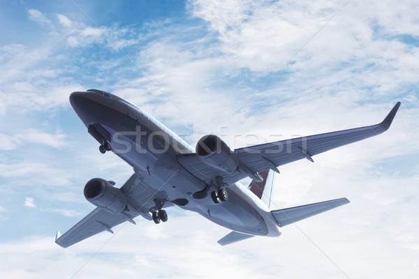 Airplane taking off. A big passenger or cargo aircraft, airline flying. Transportation Stock photo © photocreo
