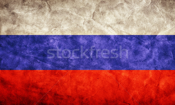 Russia grunge flag. Item from my vintage, retro flags collection Stock photo © photocreo