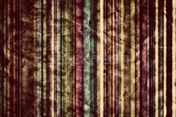 Colorful vertical stripes background in vintage, retro style.  Stock photo © photocreo