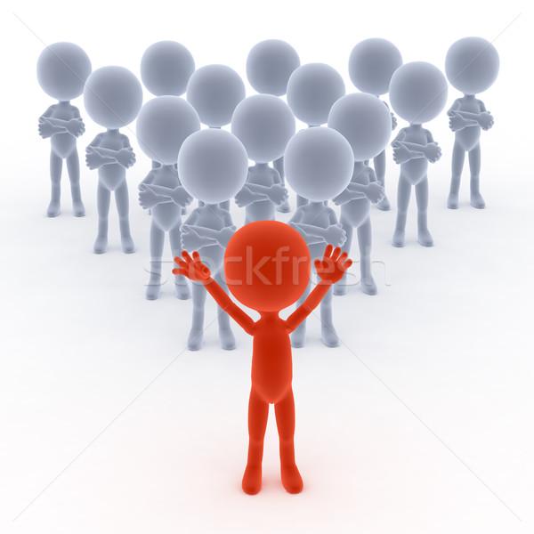 équipe commerciale leader personnes 3D peu main Photo stock © photocreo