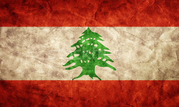 Libanon grunge zászló tétel enyém klasszikus Stock fotó © photocreo
