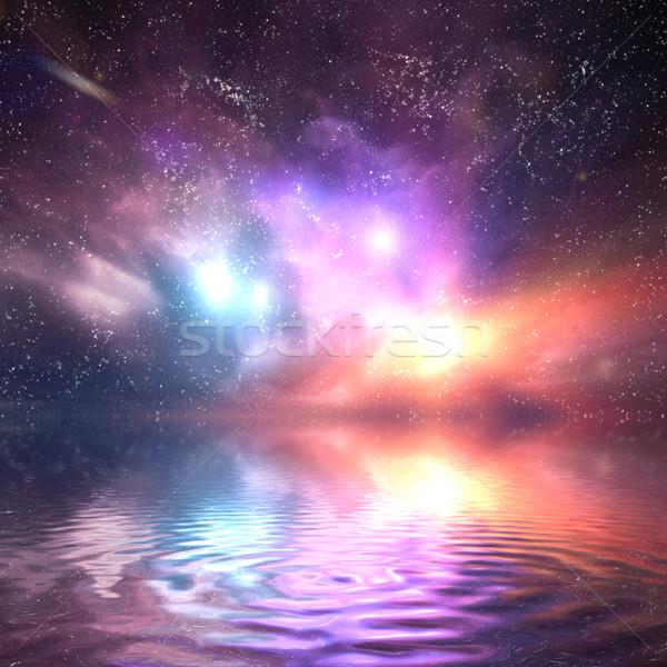 óceán galaxis égbolt csillagok fantázia víz Stock fotó © photocreo