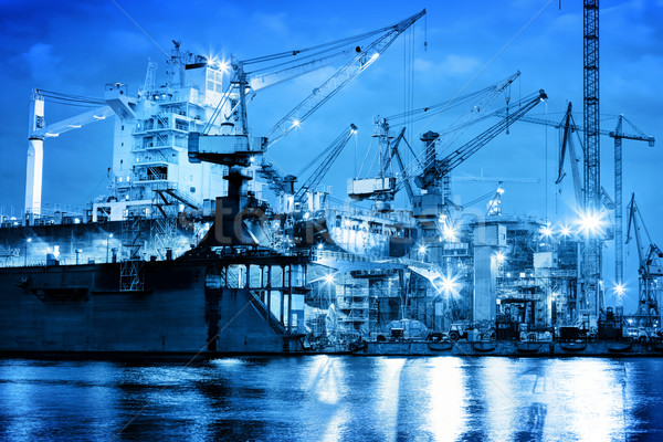 Shipyard at work, ship repair, freight. Industrial Stock photo © photocreo