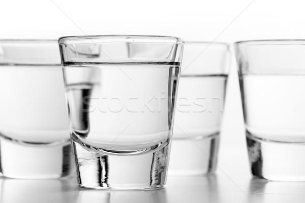 Gözlük votka beyaz alkol parti cam Stok fotoğraf © photocreo