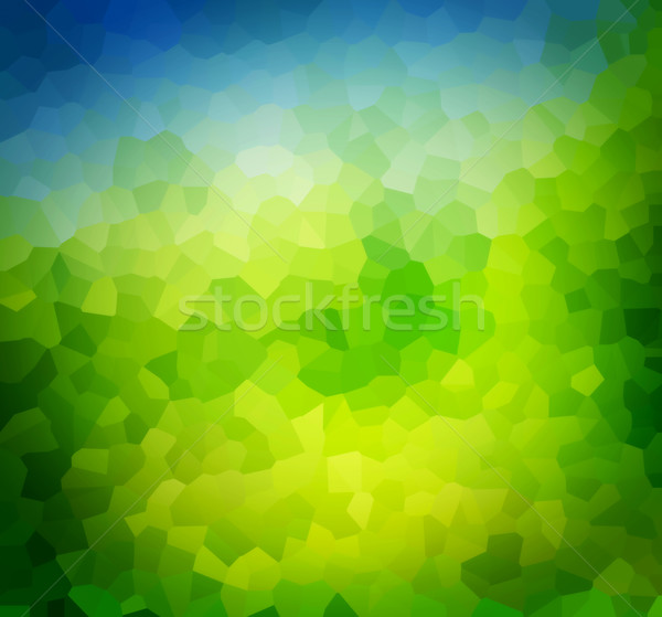 Low poly green nature background, theme.  Stock photo © photocreo