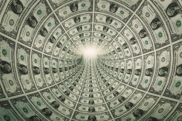 Túnel dinero dólares luz financiar futuro Foto stock © photocreo