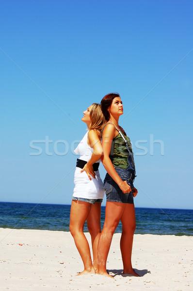 Dostluk genç çekici kızlar kız Stok fotoğraf © photocreo