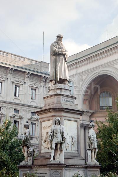 Standbeeld milaan Italië park Europa sculptuur Stockfoto © photocreo