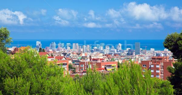 Downtown panorama of Barcelona, Spain Stock photo © photocreo
