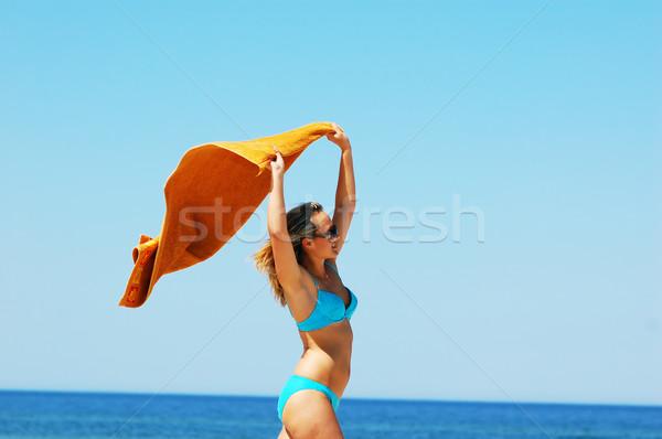 été jeunes plage femme Photo stock © photocreo