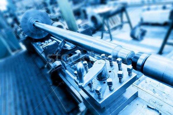 Wiercenie nudny maszyny warsztaty przemysłu przemysłowych Zdjęcia stock © photocreo