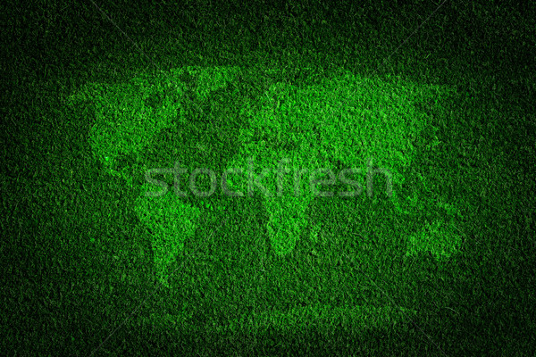 World map on green grass field background Stock photo © photocreo