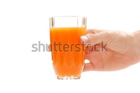 Hand with fruit juice Stock photo © photocreo