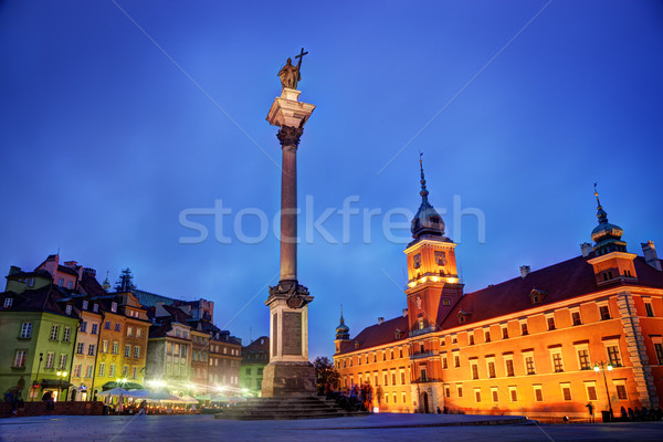 Old town in Warsaw, Poland at night Stock photo © photocreo