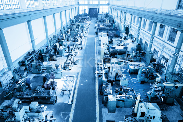 Heavy industry workshop, factory. CNC machines. Aerial view. Stock photo © photocreo
