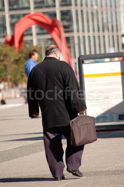 Affaires travaux grasse femme bâtiment homme Photo stock © photocreo