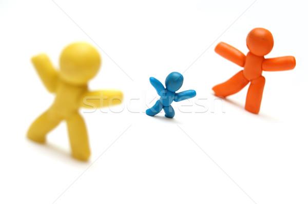 конкуренция соперничество ребенка другой семьи рук Сток-фото © photocreo