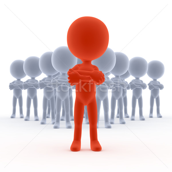 Business team leader with his people. Concept Stock photo © photocreo