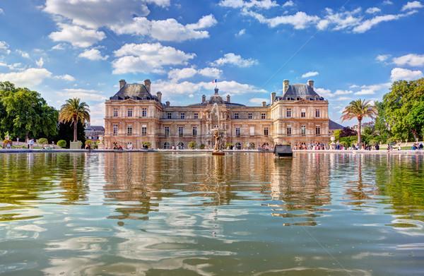 Luxemburg paleis Parijs Frankrijk tuinen Stockfoto © photocreo