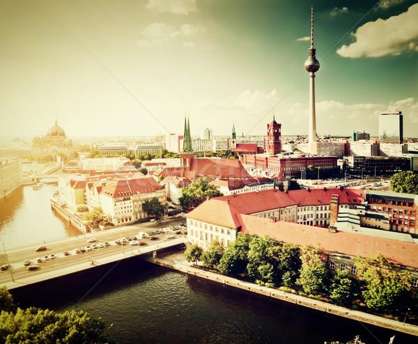 Berlin, Germany view on major landmarks Stock photo © photocreo