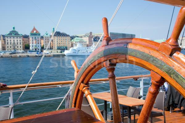 Gemi görmek Stockholm İsveç eski ahşap Stok fotoğraf © photocreo