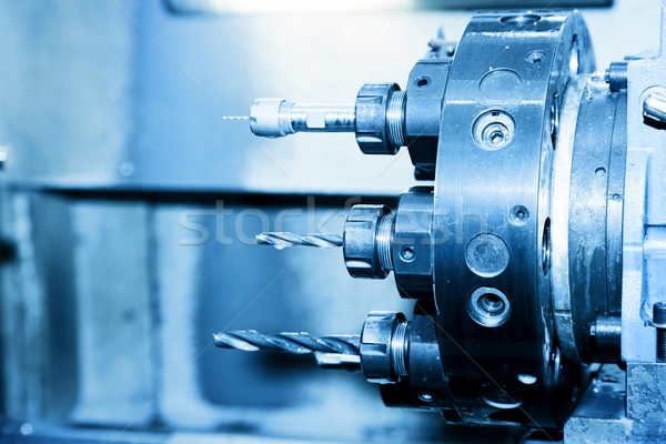 Industriële boren vervelend machine workshop Stockfoto © photocreo